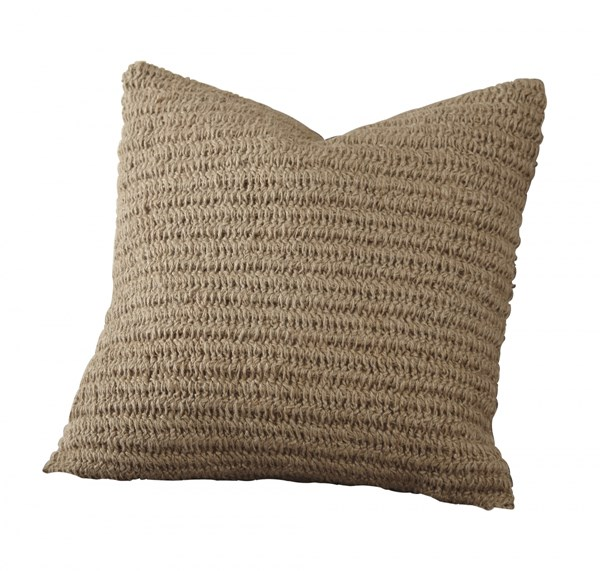 4 Tryton Transitional Natural Fabric Pillow Covers A1000642