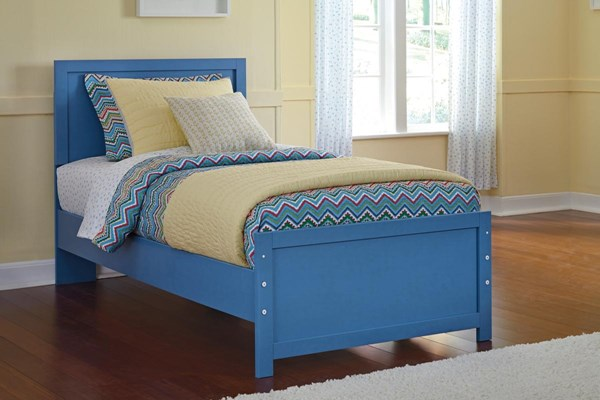 Bronilly Metro Modern Blue Twin Panel Bed B045-TW