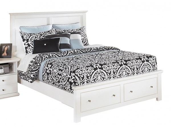 Bostwick Shoals White Queen Storage Panel Bed B139-QSB