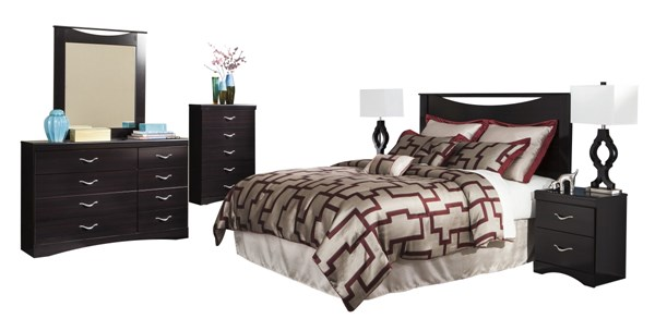 Zanbury 2pc Bedroom Set W/Queen/Full Headboard W/Bolt On Bed Frame B217-QFH-S