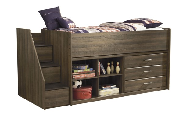Ashley Furniture Juararo Loft Bed With Left Storage Steps The Classy Home