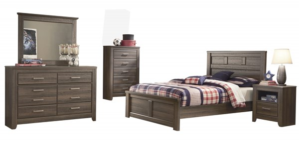 Juararo Brown 2pc Kids Bedroom Set W/Full Panel Bed B251-87-FB-1