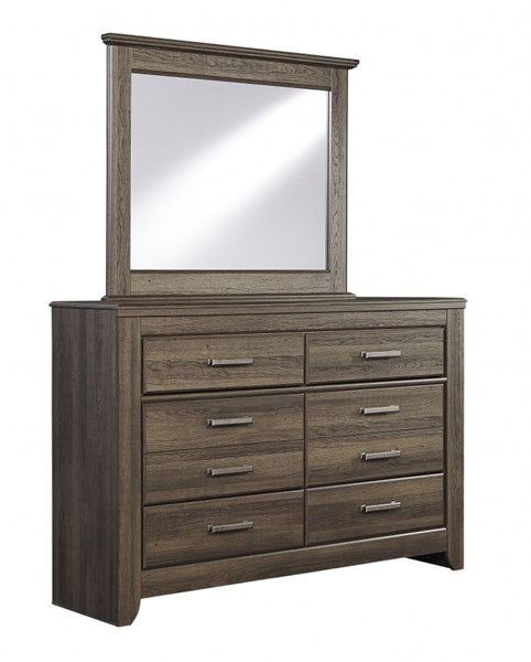 Juararo Dark Brown Wood Youth Dresser And Mirror B251-21-DM