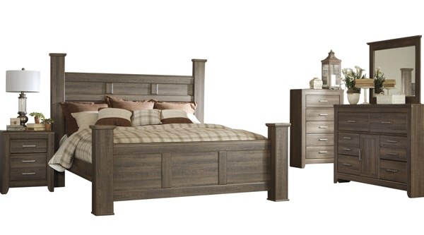 Ashley Furniture Juararo 2pc Bedroom Set With King Poster Bed The Classy Home