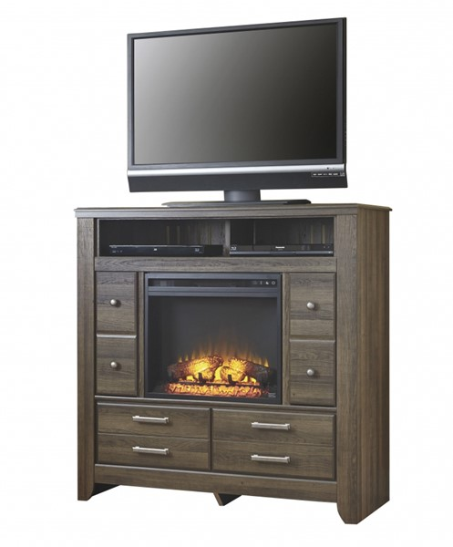 Ashley Furniture Juararo Media Chest With Fireplace The Classy Home