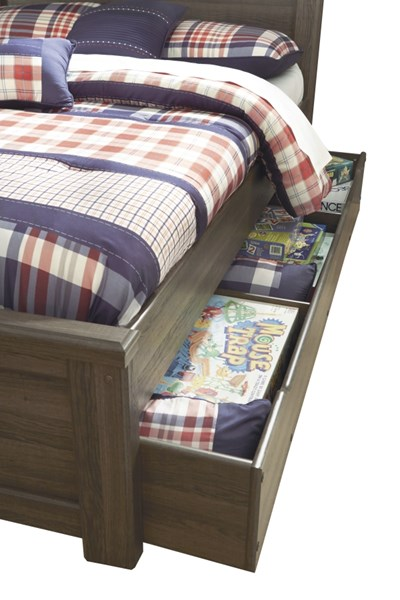 Juararo Dark Brown Wood Under Bed Storage B251-60