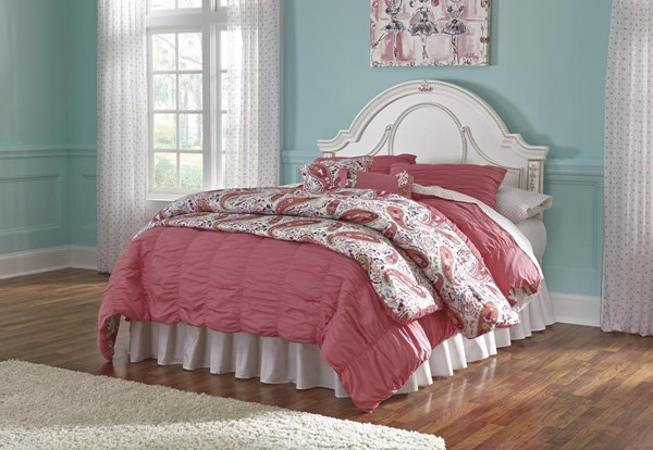 Korabella Traditional Classics White Panel Beds B355-BEDS