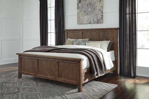 Tamilo Vintage Casual Gray Brown Queen Panel Bed B714-QPB