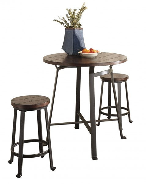 Ashley Furniture Challiman 3pc Counter Height Set D307-13-BAR-S1