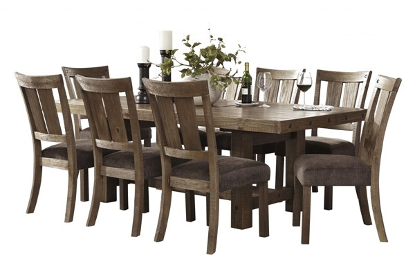 Tamilo Vintage Casual Brown Wood 9pc Dining Room Set D714-DR1