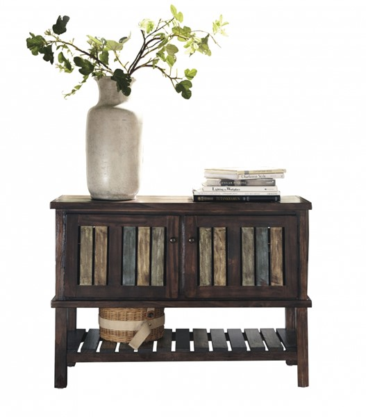 Mestler Casual Brown Wood Rectangle Console T580-40