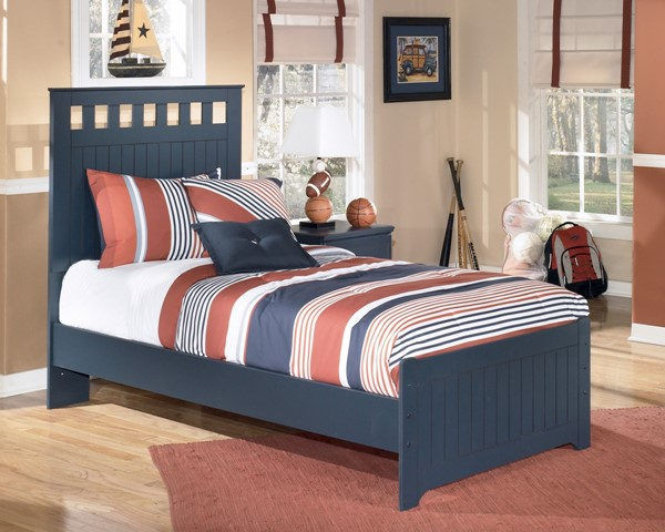 Leo Youth Blue Paint Wood Twin Panel Bed B103-TB
