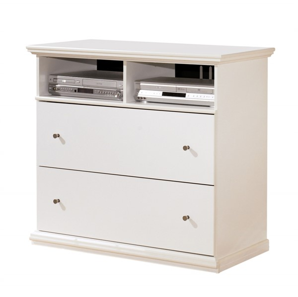 Bostwick Shoals White Wood Cottage Media Chest B139-38