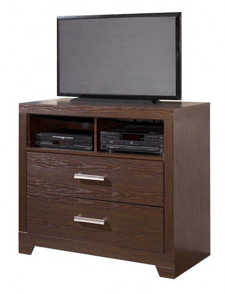 Aleydis Casual Replicated Oak Grain Wood Media Chest B165-38