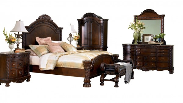 North Shore 2pc Bedroom Set W/King Panel Bed B553-Set3