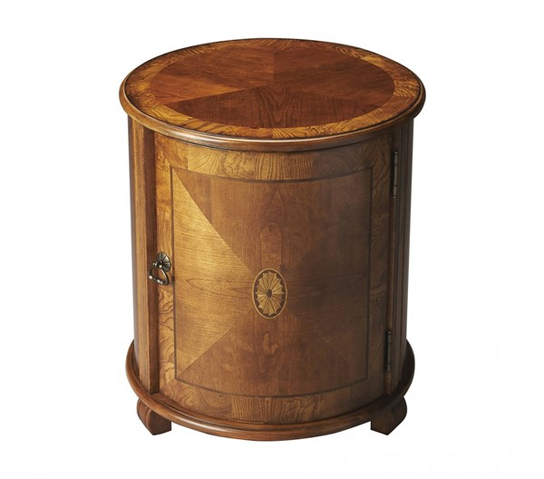 Masterpiece Lawrie Traditional Medium Brown Drum Table BSF-1260101