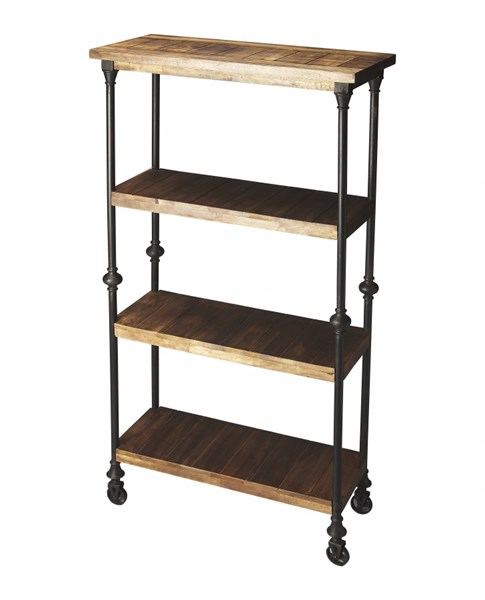 Industrial Chic Fontainebleau Transitional Solid Wood Iron Bookcase BSF-2703290