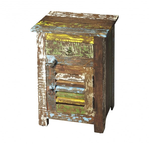 Artifacts Haveli Transitional Assorted Reclaimed Wood Accent Chest BSF-3336290