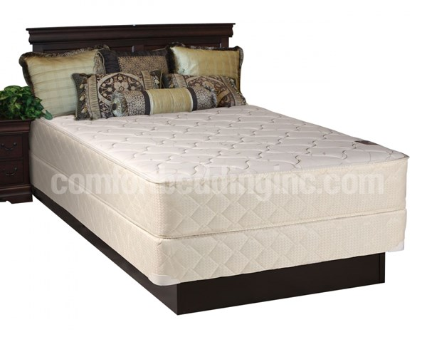 Comfort Rest White Tight Top Medium Plush Queen Mattress And Box M225-6