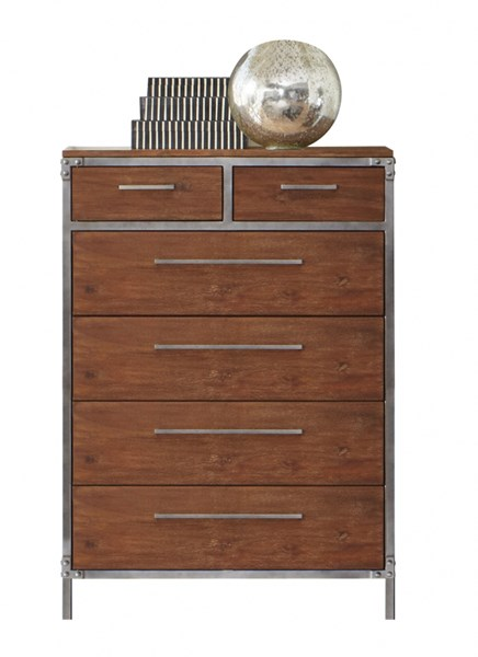 Arcadia Contemporary Weathered Acacia Wood Chest CST-203805