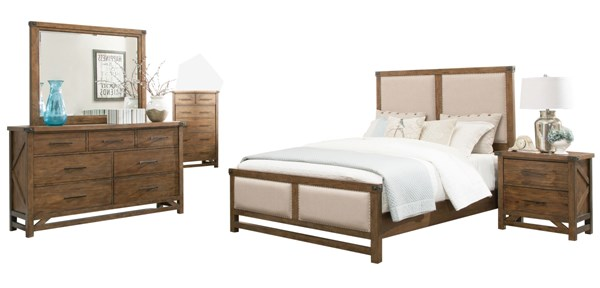 Bridgeport Natural Wood Master Bedroom Set CST-204171-BR