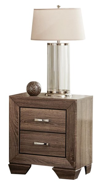Kauffman Transitional Taupe Wood Night Stand CST-204192