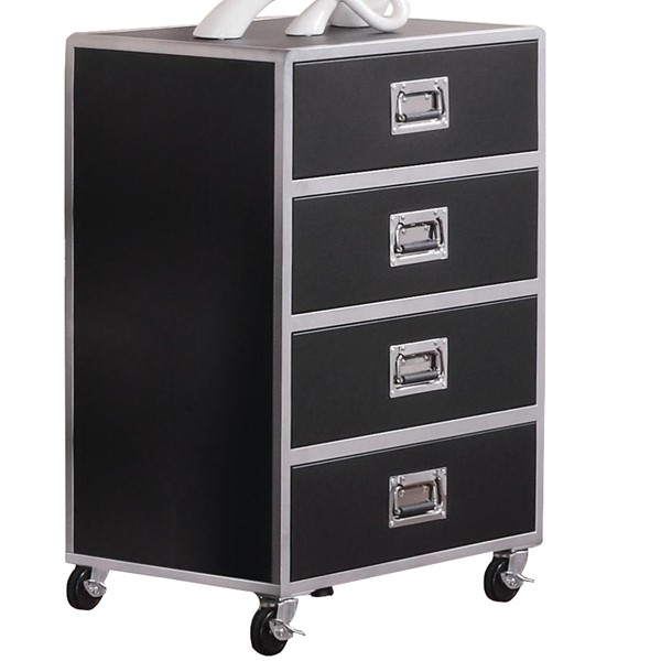 Coaster Furniture Black 4 Drawers Chest CST-460285
