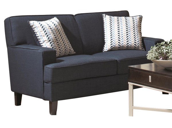 Finley Transitional Ink Blue Wood Fabric Loveseat CST-504322