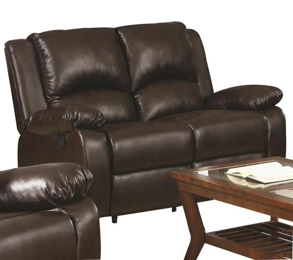 Boston Casual Brown Leather Reclining Loveseat CST-600972