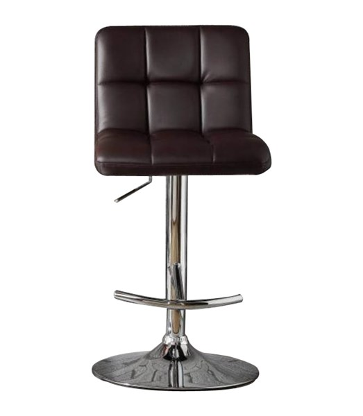 2 Ride Contemporary Brown Bonded Leather Metal Airlift Swivel Stools HE-1157BRW