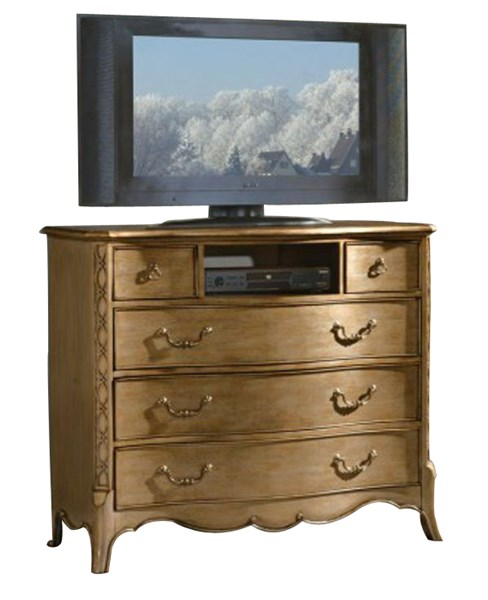 Chambord Modern Champagne Gold Wood TV Chest HE-1828-11