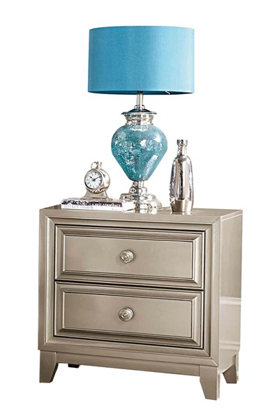 Hedy Contemporary Silver Wood Night Stand HE-1839-4