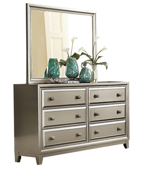 Hedy Contemporary Silver Wood Bedroom Dresser HE-1839-5