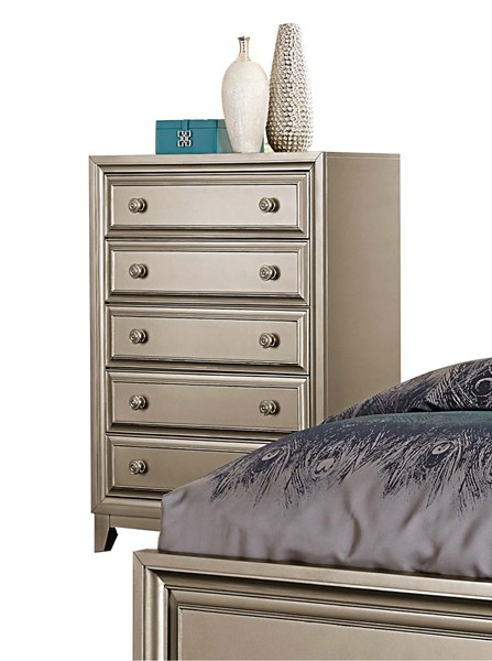 Hedy Contemporary Silver Wood Drawer Chest HE-1839-9