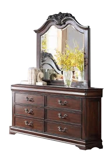 Mont Belvieu Traditional Cherry Wood Two Hidden Drawers Dresser HE-1869-5