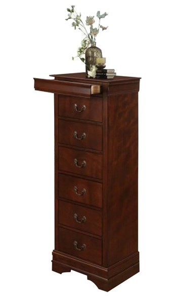Mayville Traditional Cherry Brown Wood Hidden Drawer Lingerie Chest HE-2147-12