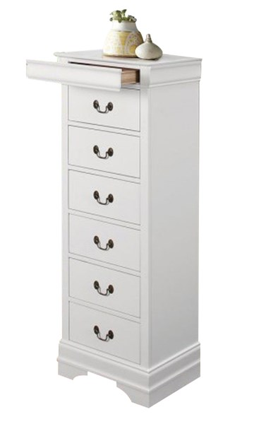 Mayville Traditional White Wood Hidden Drawer Lingerie Chest HE-2147W-12