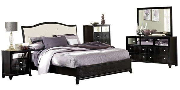 Home Elegance Jacqueline Black Master Bedroom Set HE-2299W-BR