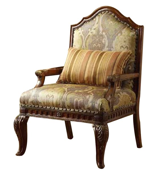 Lambeth II Chenille Wood Fabric Accent Chair HE-5669NF-1