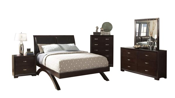 Home Elegance Astrid Espresso Master Bedroom Set HE-1313