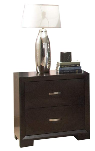 Astrid Contemporary Espresso Wood Two Drawers Night Stand HE-1313-4