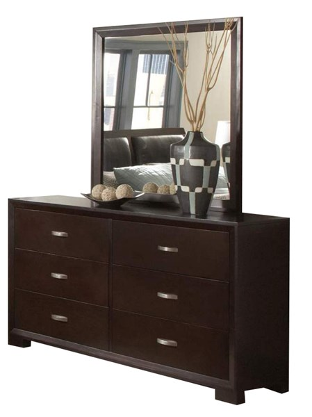 Astrid Contemporary Espresso Wood Six Drawers Dresser HE-1313-5