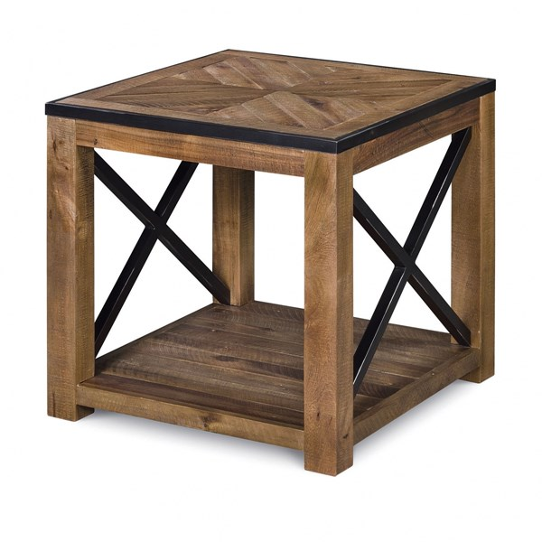 Penderton Transitional Natural Sienna Wood Rectangular End Table MG-T2386-03
