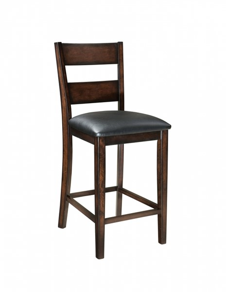 2 Pendleton Transitional Cherry Hardwood PVC Counter Height Stools STD-10034