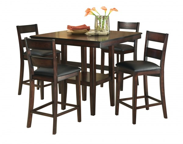 Pendleton Casual Cherry Wood PVC 5pc Counter Height/Bar Sets std-1002-1562-DRS-VAR2
