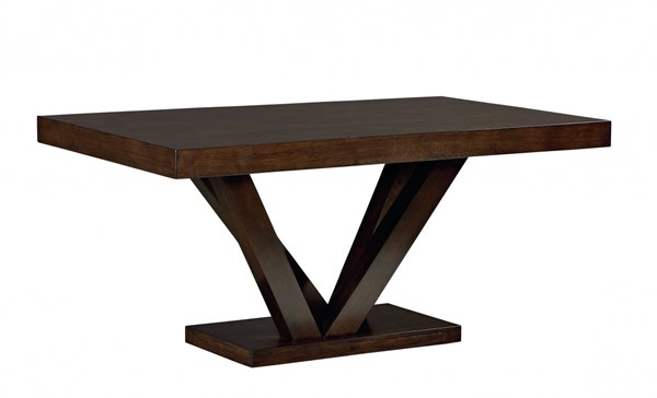 Couture Elegance Contemporary Chocolate Wood Pedestal Dining Table STD-10563