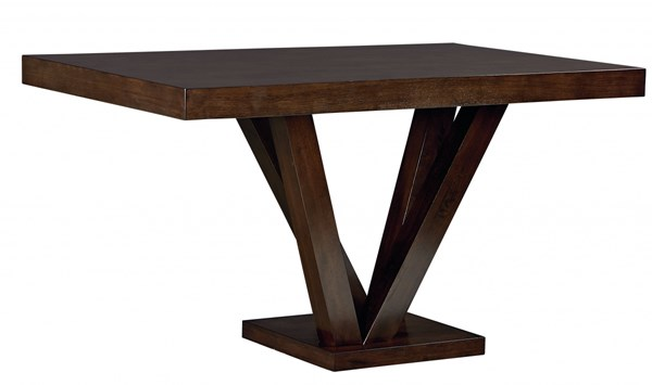 Couture Elegance Dark Chocolate Wood Counter Height Pedestal Table STD-10573