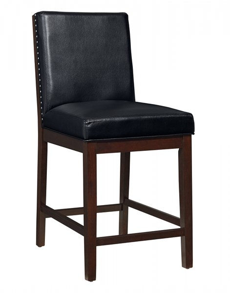 2 Couture Elegance Chocolate Black PU Counter Height Upholstery Chairs STD-10577