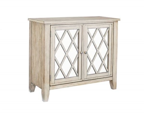 Vintage Transitional Vanilla Bean Wood Mirror Accent Console STD-11308