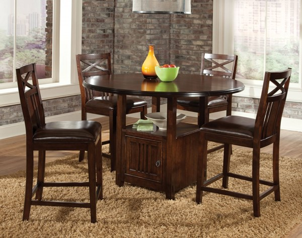 Sonoma Rustic Misson Mellow Oak Wood 5pc Counter Height / Bar Set std-119-DR-S2